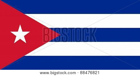 Flag of the Caribean country of Cuba poster