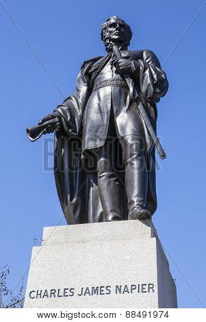 Charles James Napier Statue In Trafalgar Square