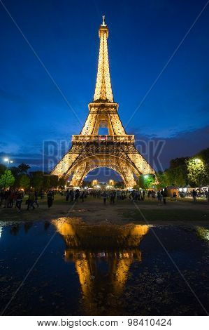 Eiffel Tower In Twilight