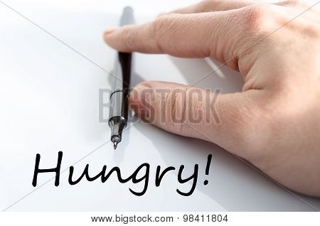 Hungry Text Concept