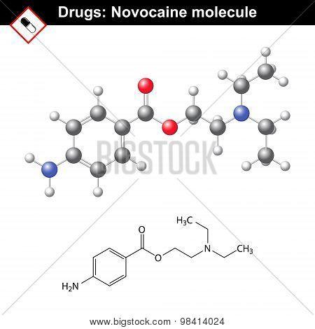 Novocaine Molecule - Anesthetic Agent