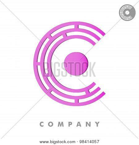 C Letter 3D Logo