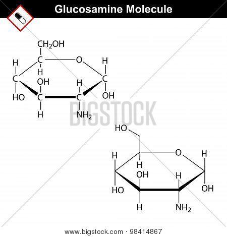 Glucosamine Structural Formula