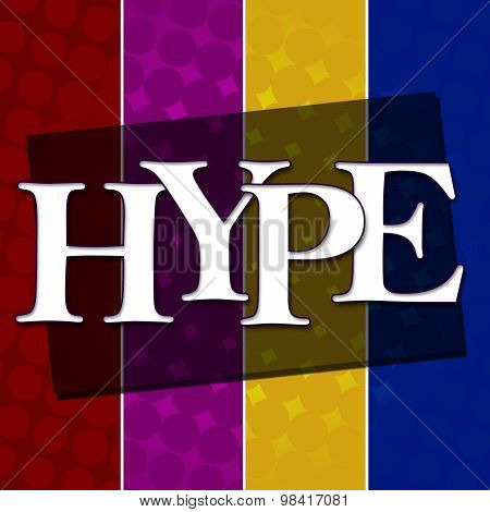 Hype Text Colorful Halftone Background