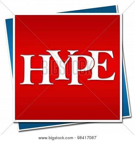 Hype Text Red Blue Blocks