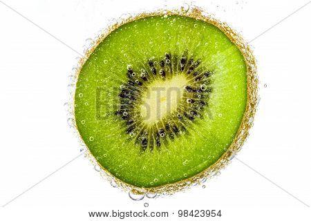 Kiwi Slices of kiwi fruit on white background