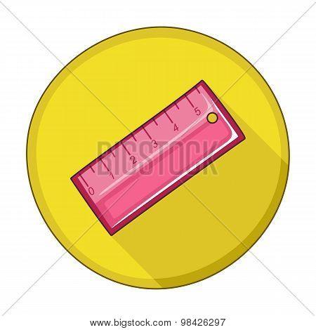 Straightedge Flat Icon