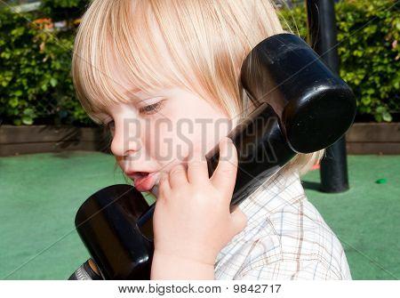 Child Telephone Playing