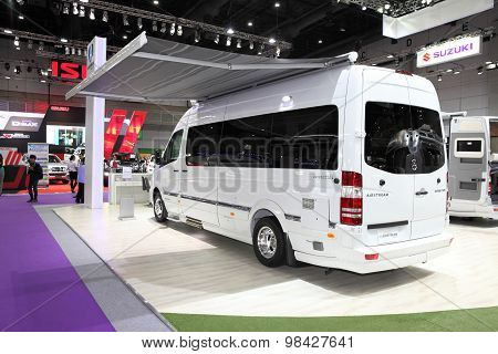 Bangkok - August 4: Back Of Mercedes Benz Car Modify By Airstream  On Display At Big Motor Sale On A
