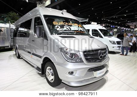 Bangkok - August 4: Mercedes Benz Car Modify By Airstream  On Display At Big Motor Sale On August 4,
