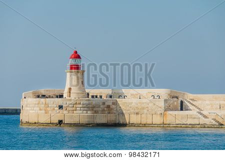 The lighthouse with red top
