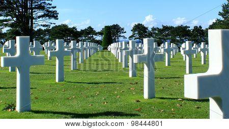 Omaha Beach : The American cemetery