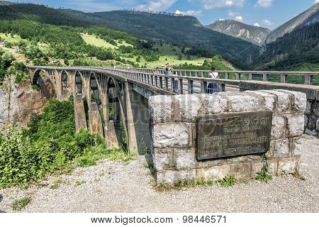 The Bridge Of Dzhurdzhevich Over The River Tara. Montenegro