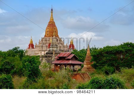 Scenic View Of Ananda Temple In Old Bagan Area, Myanmar