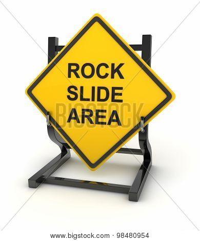 Road Sign - Rock Slide Area