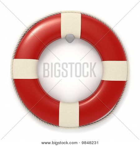Red Lifebuoy Icon - Isolated
