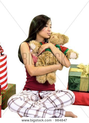 Girl With A Bear & Gifts