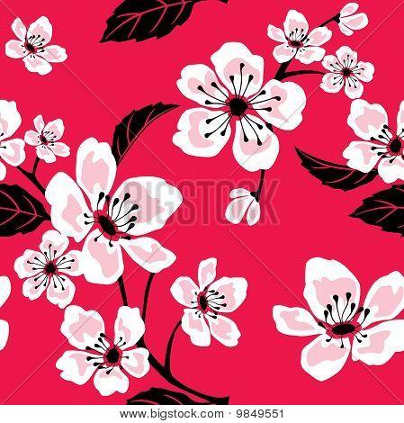 Seamless Sakura (Cherry) Blossom Pattern