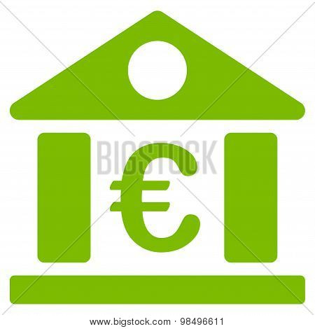 Bank building icon from BiColor Euro Banking Set