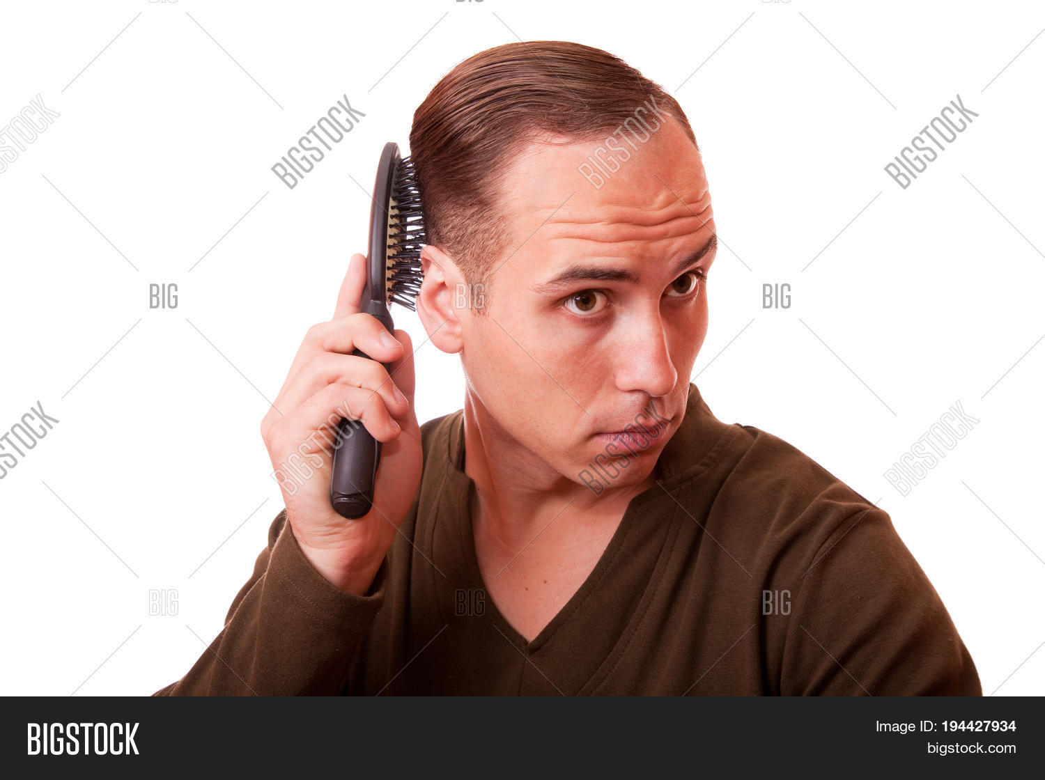 Young Man Combing Hair Image Photo Free Trial Bigstock