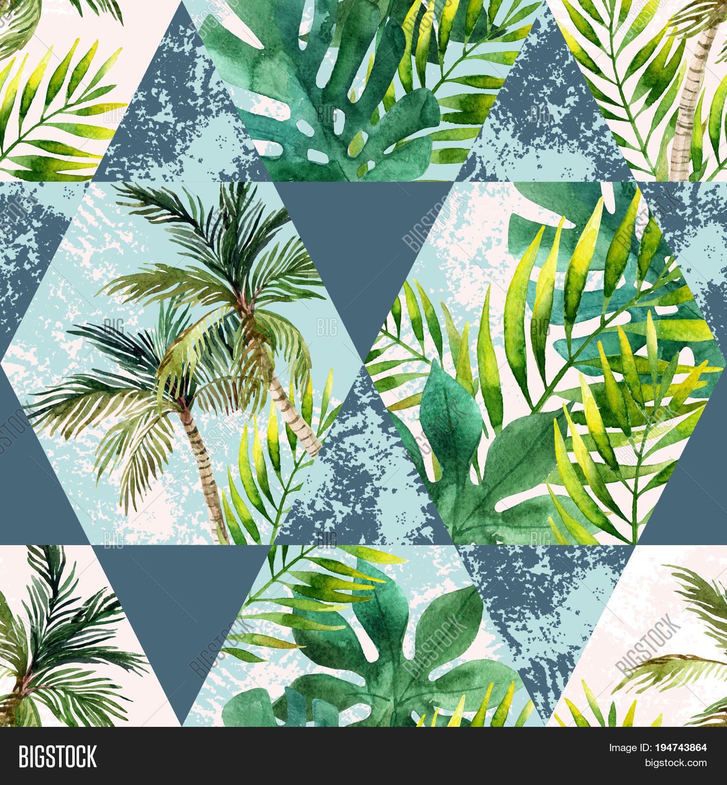 Watercolor Tropical Leaves Palm Image & Photo | Bigstock