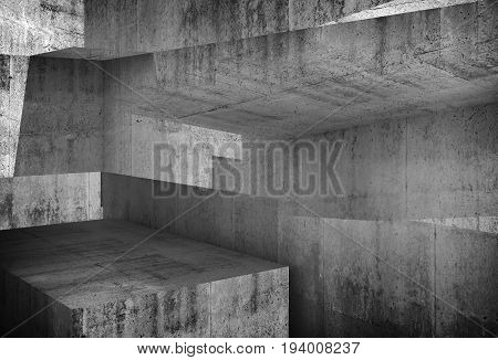 Abstract Concrete Background, 3D Art