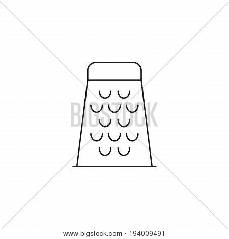 Food Grater line icon, outline vector sign, linear pictogram isolated on white. logo illustration