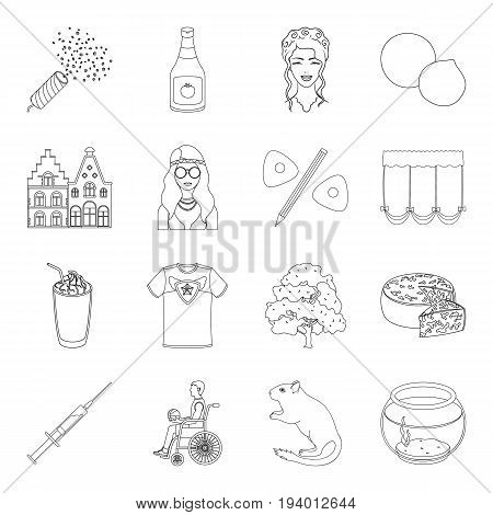 algae, sports, city and other  icon in outline style.cooking, atelier, medicine icons in set collection.