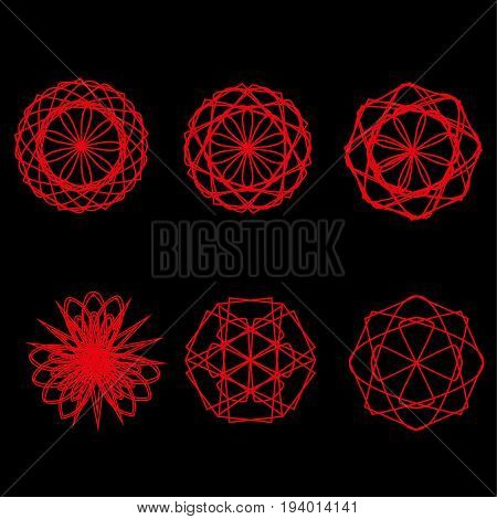 Geometric Pattern Icon Star Astrology Starsastrology Geometric Pattern Set Pentagram