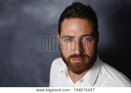Nice, handsome man face with beard