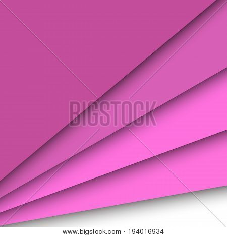 Pink paper overlapping abstract background, stock vector