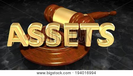 Assets Law Concept 3D Illustration