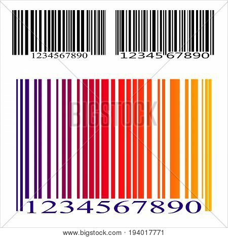 A set of bar codes. Isolated on white background. Vector illustration.