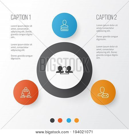 Communication Icons Set. Collection Of Teamwork, Online Letter, Chatting Person And Other Elements. Also Includes Symbols Such As Work, Group, Unity.