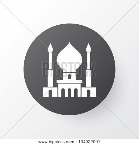 Mosque Icon Symbol. Premium Quality Isolated God's House Element In Trendy Style.