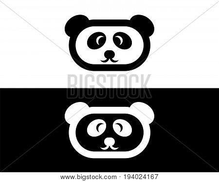 Panda vector icon. Panda logo. Flat Panda Icon. Panda design Icon. Panda flat icon. Panda art. Panda head Icon