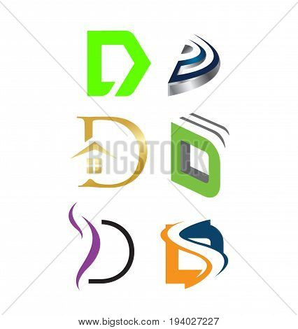 Letter D Logo Set  Vector & Photo (Free Trial) | Bigstock