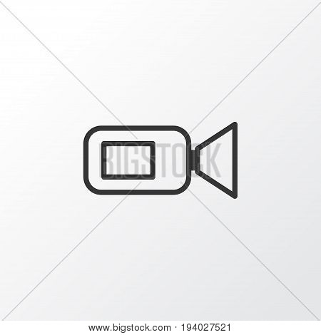 Video Camera Icon Symbol. Premium Quality Isolated Camcorder Element In Trendy Style.