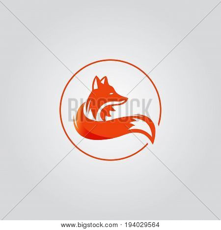 Vector image of a fox design on a black background Vector fox for your design. Animal Logo.