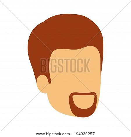 colorful silhouette of man faceless with van dyke beard vector illustration