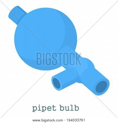 Pipet bulb icon. Cartoon illustration of pipet bulb vector icon for web isolated on white background