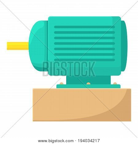 Electric motor icon. Cartoon illustration of electric motor vector icon for web isolated on white background