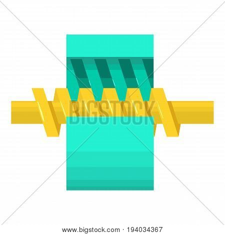 Ring gear icon. Cartoon illustration of ring gear vector icon for web isolated on white background