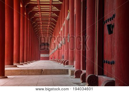 Jongmyo Shrine. Image of Jongmyo Shrine in Seoul, Korea.