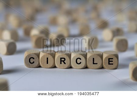 Circle - Cube With Letters, Sign With Wooden Cubes