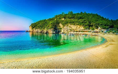 Amazing beach in Paleokastritsa Corfu island Greece