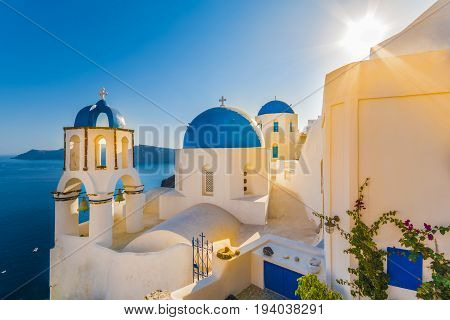 Church in Oia village, Santorini islands Greece