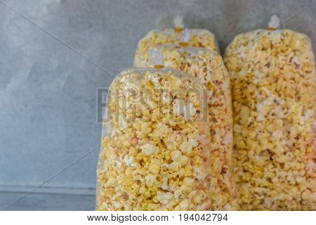 popcorn for sale at local market in Thailand