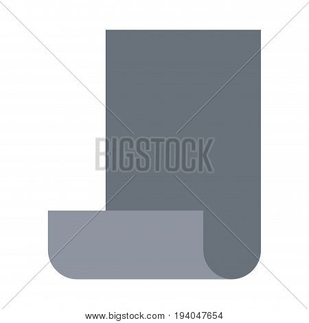 grayscale silhouette of continuously sheet vector illustration