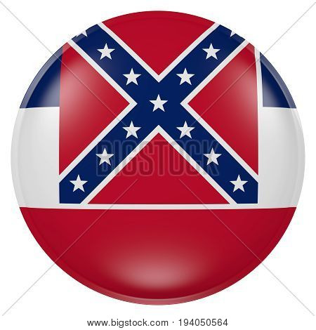 Mississippi State Flag Button